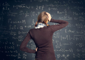 worry student have a problem with mathematics